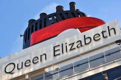 Queen Elizabeth funnel stock image