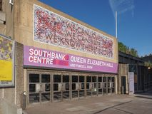 Queen Elizabeth Hall in London Royalty Free Stock Photo