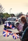 Queen Elizabeth II. Queen Elizabeth Royal Parade Through Hull Stock Image