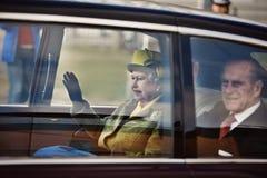 Queen Elizabeth II. Queen Elizabeth Royal Parade Through Hull Royalty Free Stock Photo