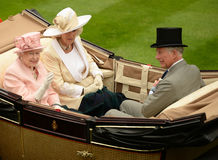 Queen elizabeth II at ascot Royalty Free Stock Photo
