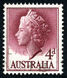 Queen Elizabeth II Australian Postage Stamp Stock Photo