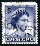 Queen Elizabeth II Australian Postage Stamp Stock Photo