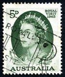 Queen Elizabeth II Australian Postage Stamp Royalty Free Stock Photos
