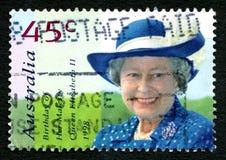 Queen Elizabeth II Australian Postage Stamp. AUSTRALIA - CIRCA 1998: A used postage stamp from Australia, depicting a portrait of Queen Elizabeth II to celebrate Royalty Free Stock Photo