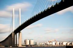 The Queen Elizabeth II bridge across the River Thames at Dartford Royalty Free Stock Photos