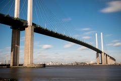 The Queen Elizabeth II bridge across the River Thames at Dartford Royalty Free Stock Images