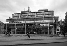 Queen Elizabeth II Centre in London black and white Stock Photo