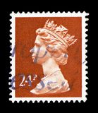 Queen Elizabeth II - Decimal Machin, serie, circa 1986. MOSCOW, RUSSIA - FEBRUARY 9, 2019: A stamp printed in Great Britain shows Queen Elizabeth II - Decimal stock photography