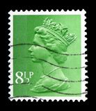 Queen Elizabeth II - Decimal Machin serie, circa 1975. MOSCOW, RUSSIA - FEBRUARY 14, 2019: A stamp printed in United Kingdom shows Queen Elizabeth II - Decimal royalty free stock image