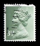 Queen Elizabeth II - Decimal Machin serie, circa 1974. MOSCOW, RUSSIA - FEBRUARY 14, 2019: A stamp printed in United Kingdom shows Queen Elizabeth II - Decimal royalty free stock photo