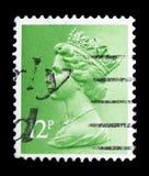 Queen Elizabeth II - Decimal Machin serie, circa 1980. MOSCOW, RUSSIA - FEBRUARY 14, 2019: A stamp printed in United Kingdom shows Queen Elizabeth II - Decimal stock images