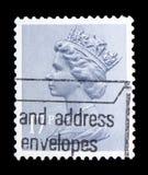 Queen Elizabeth II - Decimal Machin serie, circa 1983. MOSCOW, RUSSIA - FEBRUARY 14, 2019: A stamp printed in United Kingdom shows Queen Elizabeth II - Decimal stock photography