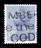 Queen Elizabeth II - Decimal Machin serie, circa 1983. MOSCOW, RUSSIA - FEBRUARY 14, 2019: A stamp printed in United Kingdom shows Queen Elizabeth II - Decimal royalty free stock photography