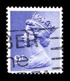 Queen Elizabeth II - Decimal Machin serie, circa 1976. MOSCOW, RUSSIA - FEBRUARY 14, 2019: A stamp printed in United Kingdom shows Queen Elizabeth II - Decimal stock photo