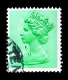 Queen Elizabeth II - Decimal Machin serie, circa 1982. MOSCOW, RUSSIA - FEBRUARY 14, 2019: A stamp printed in United Kingdom shows Queen Elizabeth II - Decimal royalty free stock image