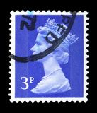 Queen Elizabeth II - Decimal Machin serie, circa 1973. MOSCOW, RUSSIA - FEBRUARY 14, 2019: A stamp printed in United Kingdom shows Queen Elizabeth II - Decimal royalty free stock photos