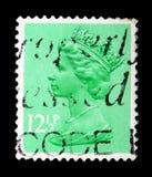 Queen Elizabeth II - Decimal Machin serie, circa 1982. MOSCOW, RUSSIA - FEBRUARY 14, 2019: A stamp printed in United Kingdom shows Queen Elizabeth II - Decimal stock photo