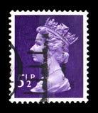 Queen Elizabeth II - Decimal Machin serie, circa 1973. MOSCOW, RUSSIA - FEBRUARY 14, 2019: A stamp printed in United Kingdom shows Queen Elizabeth II - Decimal royalty free stock photo