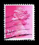 Queen Elizabeth II - Decimal Machin serie, circa 1971. MOSCOW, RUSSIA - FEBRUARY 14, 2019: A stamp printed in United Kingdom shows Queen Elizabeth II - Decimal royalty free stock image