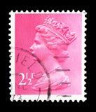 Queen Elizabeth II - Decimal Machin serie, circa 1972. MOSCOW, RUSSIA - FEBRUARY 14, 2019: A stamp printed in United Kingdom shows Queen Elizabeth II - Decimal royalty free stock photo
