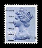 Queen Elizabeth II - Decimal Machin serie, circa 1978. MOSCOW, RUSSIA - FEBRUARY 14, 2019: A stamp printed in United Kingdom shows Queen Elizabeth II - Decimal stock photo