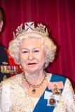 Queen Elizabeth II Figurine At Madame Tussauds Wax Museum. London Royalty Free Stock Photo