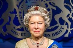 Queen Elizabeth II Figurine At Madame Tussauds Wax Museum Stock Image