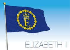 Queen Elizabeth II flag, United Kingdom, Europe. Queen Elizabeth II flag and symbol, United Kingdom, vector illustration, UK royalty free illustration