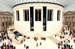 Queen Elizabeth II Great Court of the of the British Museum Lond Stock Images
