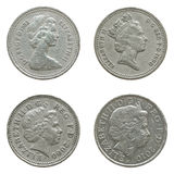 Queen Elizabeth II on One Pound coin Royalty Free Stock Photography