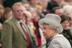 Queen Elizabeth II and people Royalty Free Stock Photography
