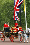 Queen Elizabeth II on the Royal Coach Stock Photography