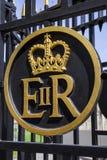Queen Elizabeth II Royal Crest Stock Image