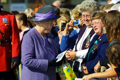 Queen elizabeth II in sussex canada Stock Photo