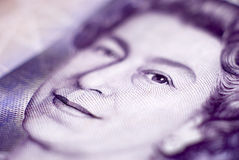 Queen Elizabeth In A 20 Pound Bill Royalty Free Stock Image