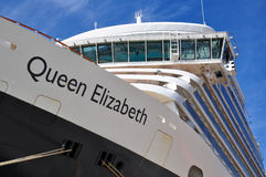 Queen Elizabeth liner bridge Stock Images