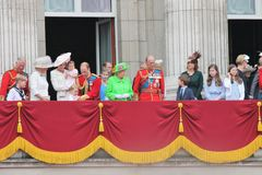 Free QUEEN ELIZABETH, London, ENGLAND, Royal Family Appears During Trooping The Colour Royalty Free Stock Photos - 82023228