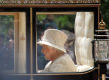 Queen Elizabeth, London uk,  8 June 2019- Queen Elizabeth  Trooping the colour Royal Family Buckingham Palace stock Press photo stock photography