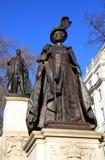 Queen Elizabeth memorial statue Royalty Free Stock Image