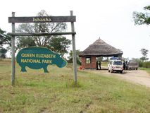Queen Elizabeth National Park, Ishasha Gate Royalty Free Stock Images