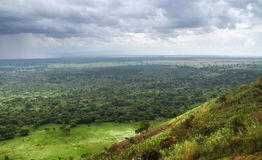 Queen Elizabeth National Park in stormy ambiance Stock Photography