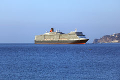Queen Elizabeth ocean liner in Yalta, Ukraine Stock Images