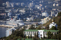 Queen Elizabeth ocean liner in Yalta, Ukraine Royalty Free Stock Photography