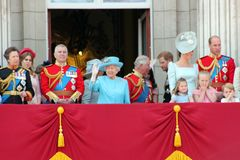 Queen Elizabeth & Royal Family: Meghan Markle, Prince Harry, Prince George William, Charles, Philip, K Stock Photos