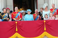 Queen Elizabeth & Royal Family: Meghan Markle, Prince Harry, Prince George William, Charles, Philip, K Stock Photography