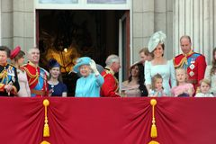 Queen Elizabeth & Royal Family: Meghan Markle, Prince Harry, Prince George William, Charles, Philip, K Royalty Free Stock Photo