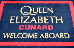 Queen Elizabeth's welcome carpet Royalty Free Stock Images