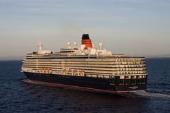 Queen Elizabeth sailing Aerial View Royalty Free Stock Photo
