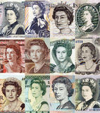 Queen elizabeth the second various portraits Stock Photography